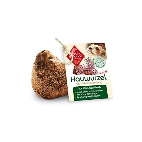 ChronoBalance® Kauwurzel XS für Hunde aus Baumheide - 100% Naturprodukt ohne Zusätze - dauer Kauspielzeug, splitterfrei - das natürliche Hundespielzeug/Kauknochen