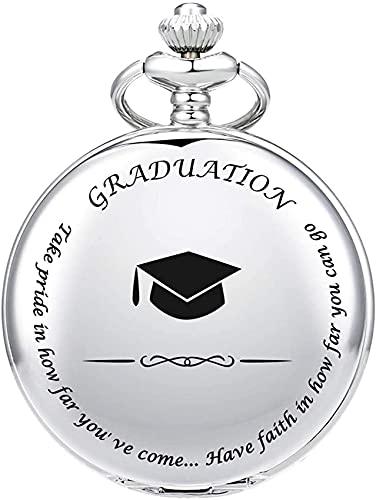 EURYTKS Regalo de graduación de Reloj de Bolsillo para él - Reloj de Bolsillo - Grabado & lsquo; Graduación graduación de la Universidad/Escuela Secundaria o Regalo para el Hijo  