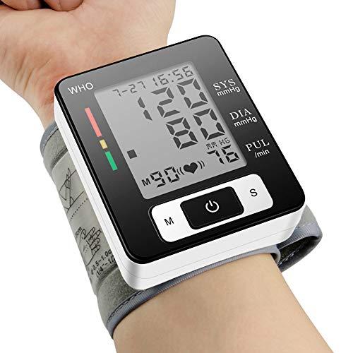 Bovenarm Bloeddrukmeter, Digitale Automatische Bloeddrukmeter En Hartslagmeter Voor Thuisgebruik Met Record Memory En Verstelbare Manchetten