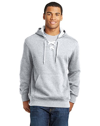 Sport Tek Men's Lace Up Pullover Hooded Sweatshirt