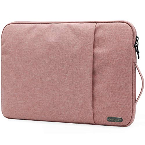 OneGET Laptop Sleeve for 2020 13 Inch Macbook Internal Fluff Laptop Bag With Accessory Pocket, Protective Carrying Case Cover for 13' Lenovo Dell Hp Asus Acer Chromebook(13-13.3Inch, Rose Pink)
