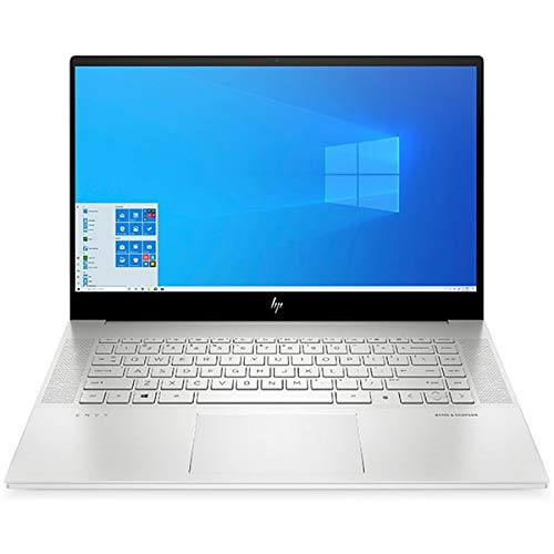 HP Envy Laptop 15-ep0010na, Silver, Intel Core i9-10885H, 32GB RAM, 2TB SSD, 15.6' 3840x2160 UHD, 6GB NVIDIA Geforce RTX 2060MQ, HP 1 YR WTY + EuroPC Warranty Assist, (Renewed)