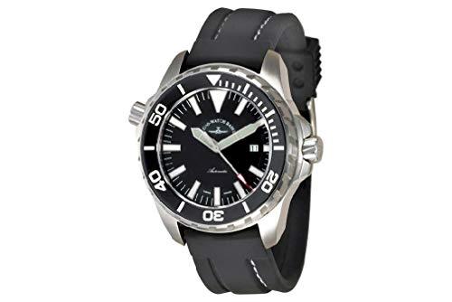Zeno Watch Basel Orologio da Uomo Analogico Automatico con Bracciale siliconata 6603-a1
