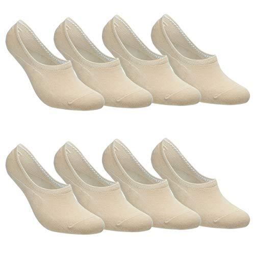 Falechay Sneaker Socken Damen Herren Füßlinge Footies 8 Paar Kurze Großes Silikonpad Verhindert...