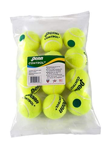 Penn Control Plus テニスボール ? ユースフェルトグリーンドットテニスボール 初心者用 ? 12ボールポリバッグ