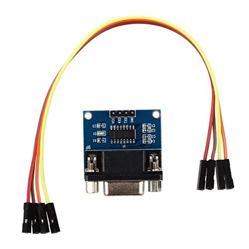 SODIAL (R) MAX3232 RS232 Schnittstelle auf TTL-Konverter-Modul DB9-Anschluss W / 4 Sprung Kabel