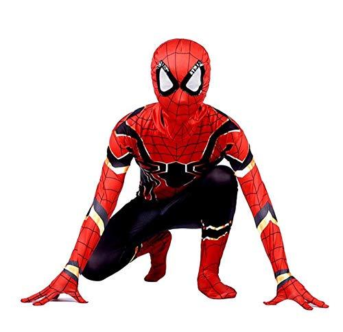 Disfraz De Spiderman Para Niños Disfraz De Spiderman Para Niños Vestido De Acción Y Accesorios Cosplay De Fiesta Disfraz De Spiderman Para Niños Vestido Elegante Con Estampado 3d,Red-130cm