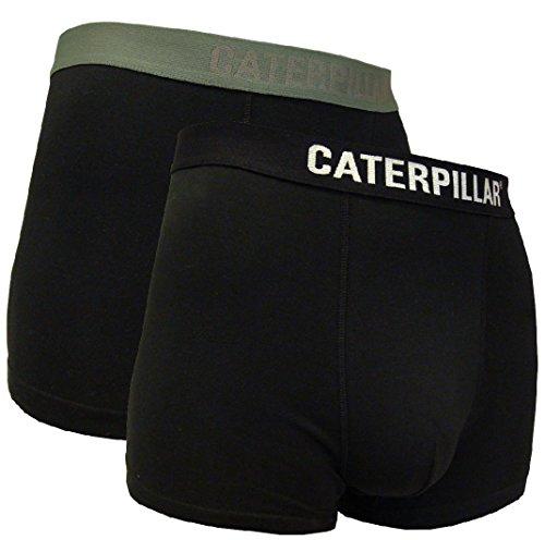 Caterpillar 2 STK. Herren Boxershort/Retroshort in Schwarz, Größen in M, L, XL, XXL verfügbar (XL/7/52, Schwarz)