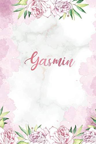 Yasmin: Personalisiertes Notizbuch im Blumen Design Tagebuch Dankebuch Notizheft Journal. Individuelles & Einzigartiges Geschenk für Frauen & Mädchen