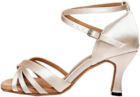DKZSYIM Women's Professional Latin Dance Shoes Ballroom Wedding Performance Shoes,Model VLP1213