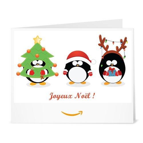 Chèque-cadeau Amazon.fr - Imprimer - Pingouins déguisés