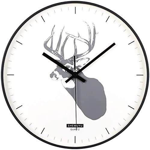 HCYY Reloj de Pared de Estilo nórdico, Reloj de Pared de 12...