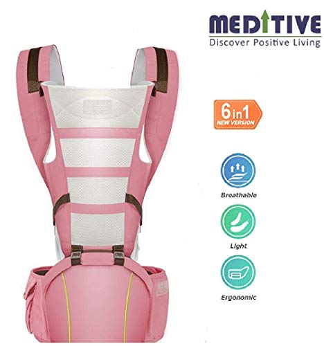 MEDITIVE 3 In 1 Cotton Baby Carrier With Detachable Hip Sea Rs. 1750  ( 39%  Discount).