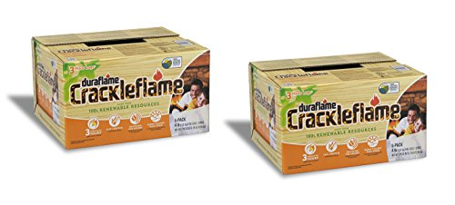 Duraflame 2-boxes 4637 6-pack Crackleflame Firelogs, 4-pound...