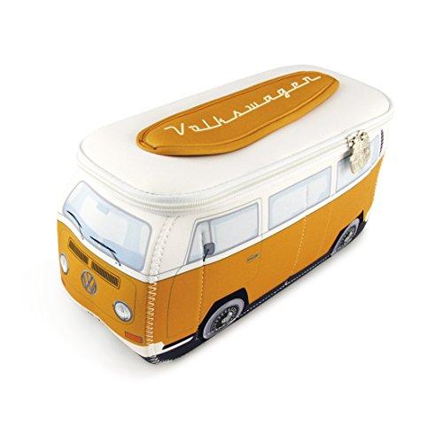 BRISA VW Collection Volkswagen VW T2 Bus 3D Neopreno Pequeña Bolsa Universal - Anaranjado