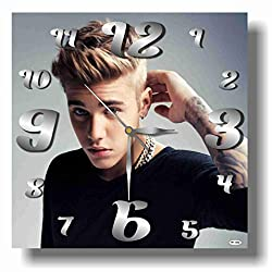 Art time production Justin Bieber 11'' Handmade Wall Clock - Get Unique décor for Home or Office – Best Gift Ideas for Kids, Friends, Parents and Your Soul Mates