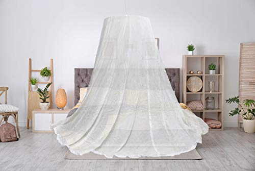 EMF Bed Canopy Swiss Shield Naturell Dome Made with Silver Plated Copper Yarn and Natural Cotton (Twin XL 80' x 39')