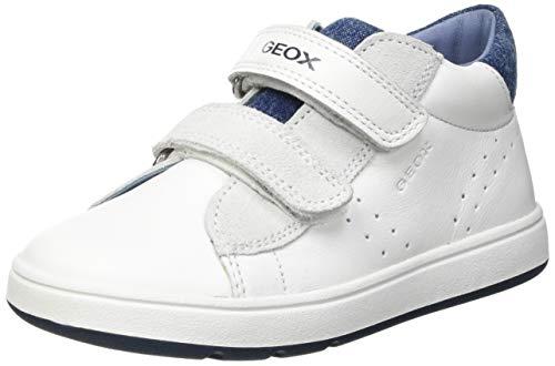Geox B BIGLIA Boy D, Scarpe da Ginnastica Bimba 0-24, White/Dk Blue, 24 EU