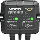 NOCO GENIUS2X2, 4A (2A/Bank) Intelligent Ladegerät, 6V und 12V Batterieladegerät,...