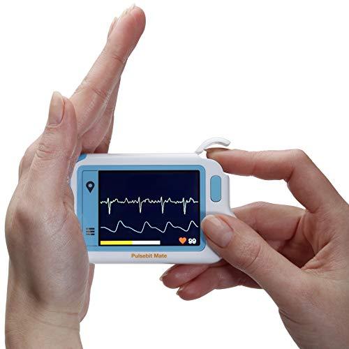 MedX5 (Upgrade 2020) 2,4'' Touch Display, wireless Herzfrequenzmesser, EKG Gerät mitFarbdisplay, deutsche Menüführung und Anleitung, EXPORTFUNKTION DER MESSWERTE VORHANDEN