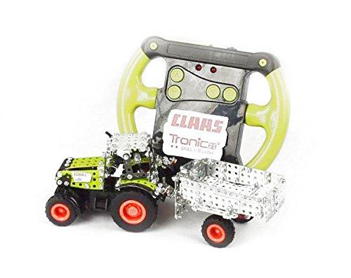 RC Auto kaufen Traktor Bild 2: Tronico 09501 - Metallbaukasten Traktor Claas Axion 850 mit Kippanhänger und Fernsteuerung, Maßstab 1:64, Micro Serie, grün, 462 Teile*