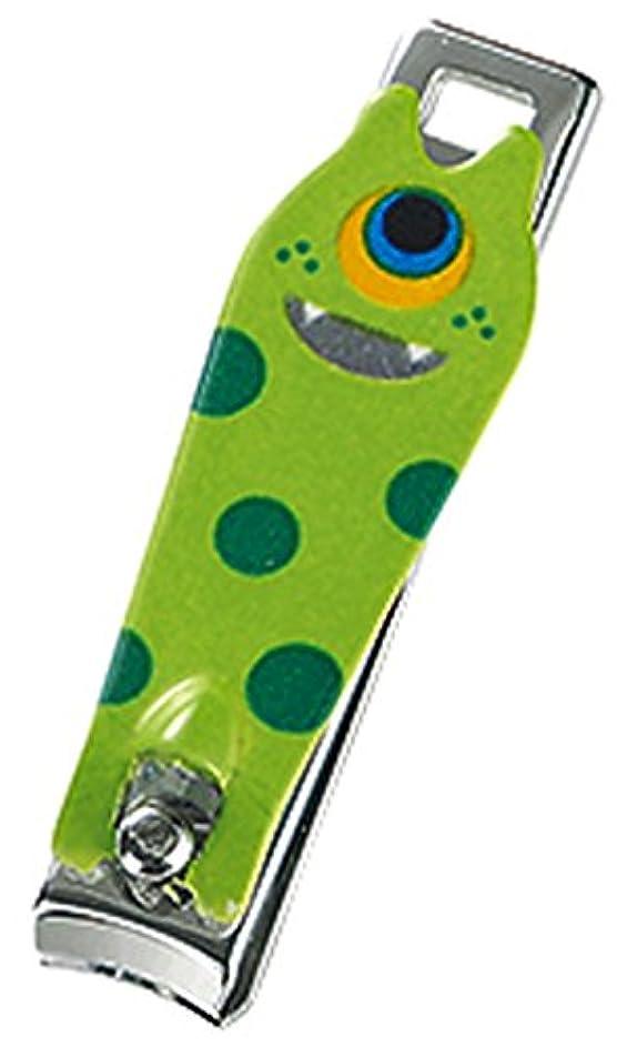 誘導スリムボリュームモンスター ミニつめ切りセット (ストラップ付き透明ケース付き) グリーン
