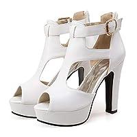 Deodehi ファッションピュアカラー通気性オープントゥサンダルライトスリッパ女性靴 レディース パンプス ピンヒール ハイヒール ポインテッド サンダ 美脚 快適な ローヒール 結婚式 ビジネス ヒールの高さ: 12cm