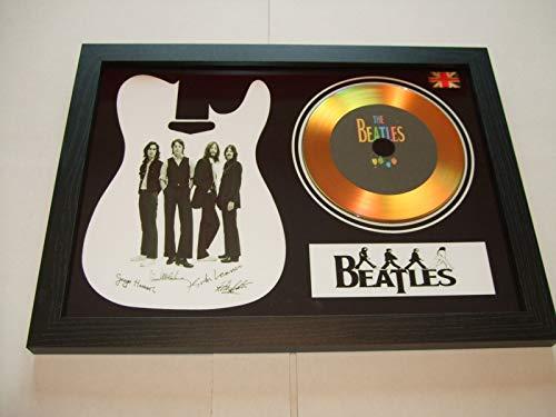 gold disc frames The Beatles - Disco de Oro Firmado