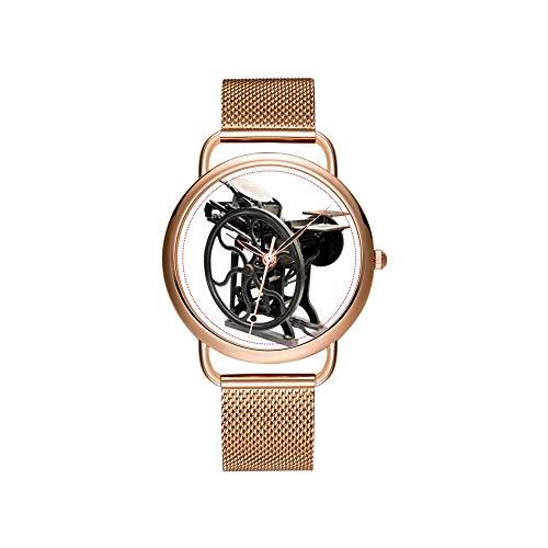 Vrouwen horloges merk dames mesh riem ultradun horloge waterdicht horloge kwartshorloge Kerstmis antiek gezicht klok met middeleeuwse vogel