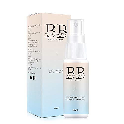 Anself Crema solar en spray para el rostro, 20 ml, protector solar, spray hidratante resistente al agua