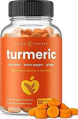 Turmeric Curcumin Gummies with Ginger- 120 Gummy Parent ASIN