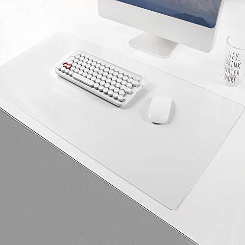 Almohadilla de escritorio transparente para oficina/escuela, protector de mesa impermeable de PVC, alfombrilla de doble cara para juegos de oficina, hogar, 30 x 60 cm, 1 mm de grosor.