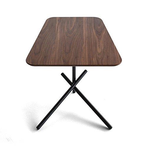 Tuoni Redford salontafel, gelakt metaal, donker hout, 50,5 x 47,5 x 55,5 cm, zwart