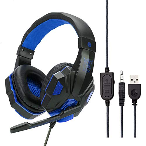 CITW PS4 Headset Bass Gaming Hoofdtelefoon Game Koptelefoon Mic Led Light PS4 PC Mobiele telefoon Xbox One Tablet