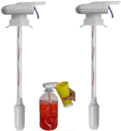 Magic Tap Automatic Drink Dispenser.The Magic Tap Electric Automatic Juice Sucker Water Drink Bottletop Dispenser.for Party Wedding Decoration Outdoor Home Kitchen (2PCS)