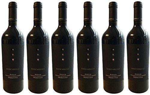 Primitivo LUCCARELLI Puglia (6 X 0,75 L) - trockener Rotwein - 14 % Vol.