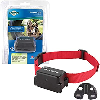 PetSafe Stubborn Dog Receiver Collar Only - In-Ground Fence Collar, Waterproof, with Tone, Vibration and Static Correction for Dogs 8lb and Up - From The Parent Company of INVISIBLE FENCE Brand from Radio Systems Corporation