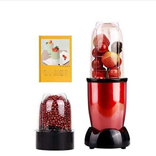Wzdszuil 220V Multifunctional Electric Juicer Mini Household Automatic Blender Juicer Machine Mini Juicer (Color : Red 2 cups 2 Blades)