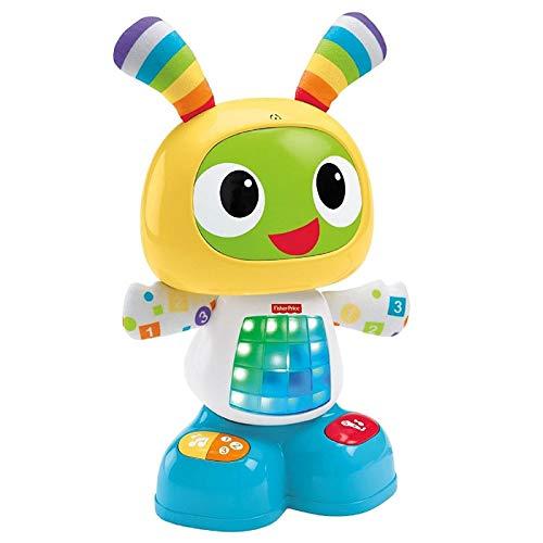 Fisher-Price Bebo le Robot interactif jouet d'éveil avec 3 modes de jeu, version anglaise, pour bébé de 9 mois et plus, CGV43