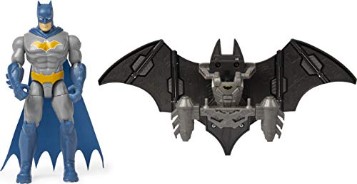 Batman 6056717 Mega Gear Deluxe Figura de acción con Armadura transformadora, 10,4 cm, Multicolor
