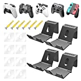 OIVO Game Controller Holder Hanger Wall for PS4 Nintendo Xbox One/S/X/Elite/Series S/Series X, Universal Foldable Desk Hook Stand for Gamepad, Headphone,Video Game Controller - 4 Pack