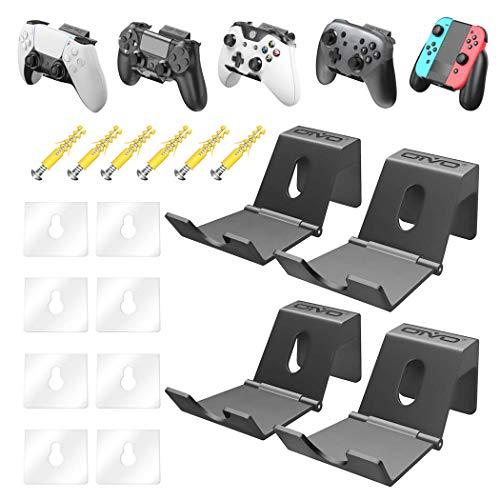 OIVO Wandhalterung für PS5 Xbox Series PS4 Nintendo Controller, Universal Controller Wandhalter Ständerhalter für Kopfhörer, Gamepad - 4 Stück