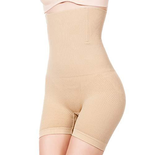 YiNuow Faja Reductora Braguita Moldeadora Adelgazante Faja Pantalón Cintura Alta Body Moldeador Abdomen Shapewear Lenceria Mujer (Beige, L)