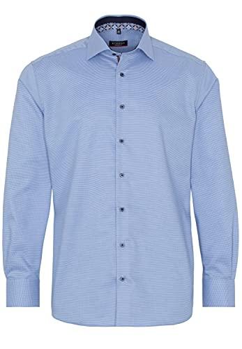 eterna Langarm Hemd Modern Fit Natté strukturiert,Hellblau,44