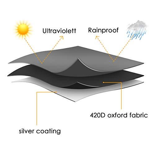 MOHOO Sonnenschirm Hülle mit Stab, Ampelschirm Schutzhülle 2 bis 4 M Große Sonnenschirm Abdeckung,UV-Schutz, durchgängiger Reißverschluss,Winddicht und Schneesicher,Oxford Gewebe - 3