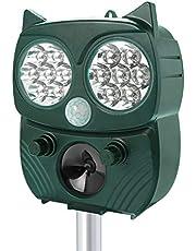 Repelente para Gatos,Solar Ultrasónico Repelente para Gatos Jardin Repelente de Animales con Sensor IR de Frecuencia LED para Gatos, Ratones,Perros, Zorros, Pájaros