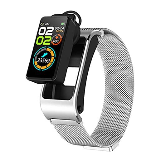 LKM H21 Tasa del corazón y presión Arterial Recordatorio de Llamada Bluetooth Multifunción Multifunción Reloj de Ritmo cardíaco y recordatorio de Llamada de presión Arterial para Android iOS,B