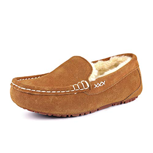 DREAM PAIRS Women's Auzy-01 Chesnut Faux Fur Moccasin Slippers Size 9.5-10 B(M) US