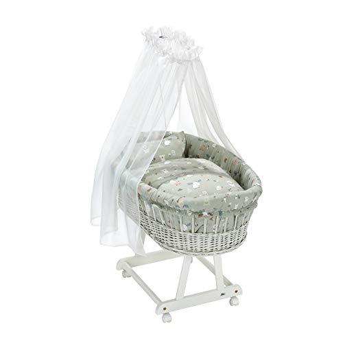 Alvi Himmelset für Stubenwagen Birthe 3tlg. Baby Baby Forest 80x80 cm | 411610210