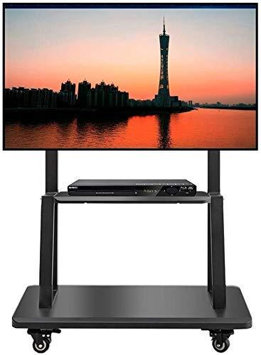 Soporte universal de mesa para TV, carrito de TV móvil para 32/42/49/55/65/75 pulgadas Soporte de TV de piso con ruedas giratorias para el hogar y la oficina, carrito giratorio de alta resistencia, c